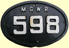click for 16K .jpg image of MGWR bridgeplate