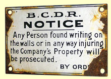 click for 16K .jpg image of BCDR enamel notice walls