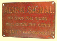 click for 11K .jpg image of BCDR carriage alarm sign