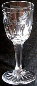 click for 12K .jpg image of Belfast Steamship sherry glass