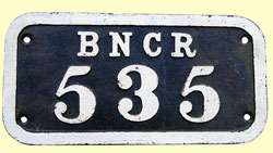 click for 17K .jpg image of BNCR wagon plate
