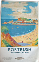click for 13.4K .jpg image of Portrush poster