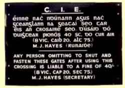 click for 6.6K .jpg image of CIE gate notice
