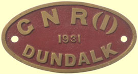 click for 11K .jpg image of GNR makers' plate