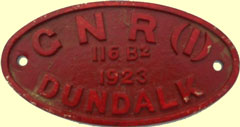 click for 9K .jpg image of GNRI tender plate