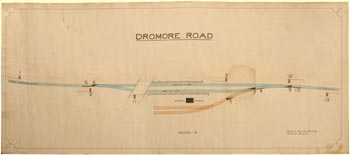 click for 6K .jpg image of Dromore Rd. signal box diagram