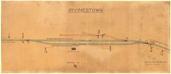 click for 6K .jpg image of Irvinestown signal diagram