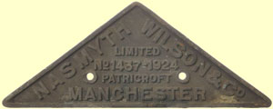 click for 7K .jpg image of GNR makers plate