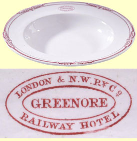 click for 19K .jpg image of Greenore plate