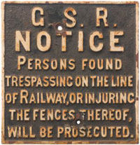 click for 19K .jpg image of GSR trespass