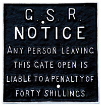 click for 17K .jpg image of GSR gate notice