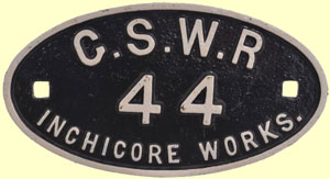 click for 14K .jpg image of GSWR wagonplate