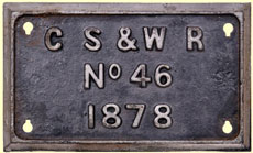 click for 12K .jpg image of GSWR makers' plate