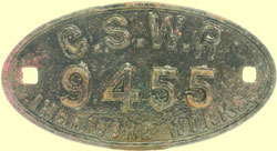 click for 11.5K .jpg image of GSWR wagon plate
