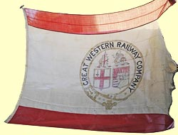 click for 9K .jpg image of GWR maritime flag