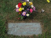 click for 20K .jpg image of Ruth grave