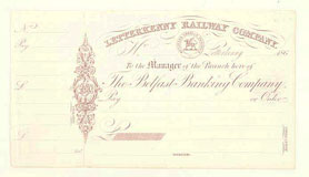 click for 9K .jpg image of Letterkenny cheque