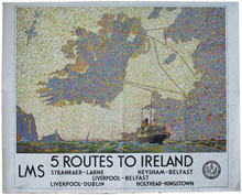 click for 18K .jpg image of LMS routes to Ireland