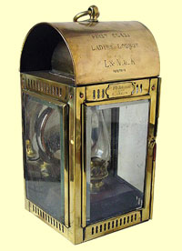 click for 16K .jpg image of Hibernia boat lamp