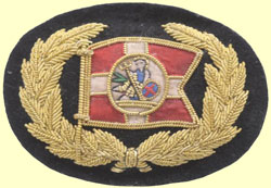 click for 17K .jpg image of LNWR marine cap badge