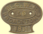 click for 7K .jpg image of MGWR carriage builder's plate
