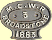 click for 9K .jpg image of MGWR carriage plate
