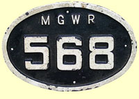 click for 10K .jpg image of MGWR plate