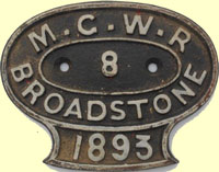 click for 11K .jpg image of MGWR wagon plate