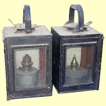 click for 11K .jpg image of MGWR signal lamps