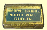 click for 11K .jpg image of North Wall Hotel Vesta case