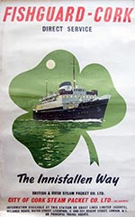 click for 12K .jpg image of Fishguard-Cork poster