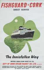click for 11K .jpg image of 'Fishguard-Cork' poster