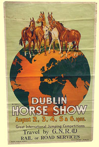 click for 11K .jpg image of GNRI Horse Show poster