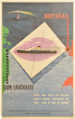 click for 10K .jpg image of Holyhead crossing poster