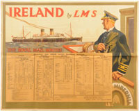 click for 11K .jpg image of LMS to Ireland poster