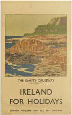click for 11K .jpg image of Giants Causeway poster