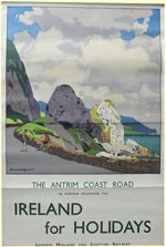 click for 9K .jpg image of LMS Antrim Coast poster