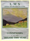 click for 6K .jpg image of LMS Connemara poster