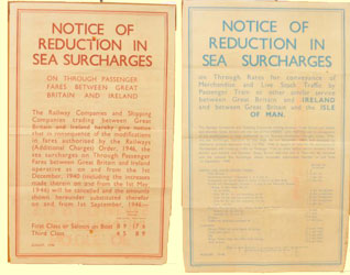 click for 22K .jpg image of sea surcharge posters