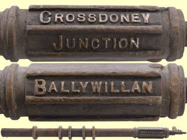 click for 27K .jpg image of 'Ballywilliam-Crossdoney Junction' staff
