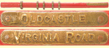 click for 25K .jpg image of a Virginia Rd.-Oldcastle staff