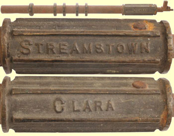 click for 28K .jpg image of a Clara-Streamstown staff