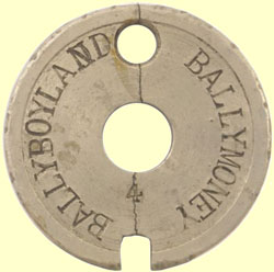 click for 14K .jpg image of 'Ballymoney-Ballyboland' Tyers No.6 tablet (alloy)
