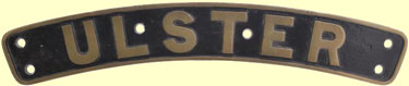 click for 8K .jpg image of LMS Ulster nameplate