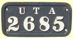 click for 11K .jpg image of UTA wagonplate